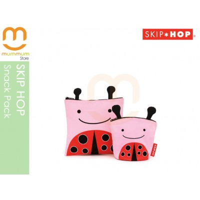 Skip Hop Zoo Reusable Sandwich & Snack Bag Set - Ladybug