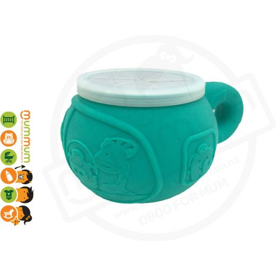 Marcus & Marcus Silicone Snack Bowl Elephant -Green