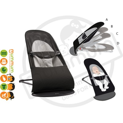 BABYBJÖRN Baby Soft Balance Bouncer Black Mesh