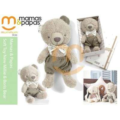 mamas & papas Soft Toy New Millie & Boris Bear