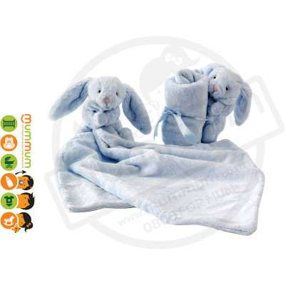 Jellycat Bashful Bunny Soother -  Blue