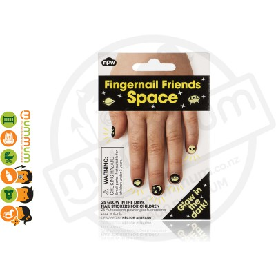 Npw Fingernail Friends Space Alien Nail Stickers / Accessories