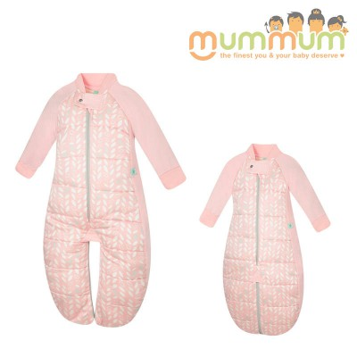 Ergopouch Sleepsuit Bag Spring Leaves 2.5TOG Choose Sizes 2m-4Y Pure Cotton