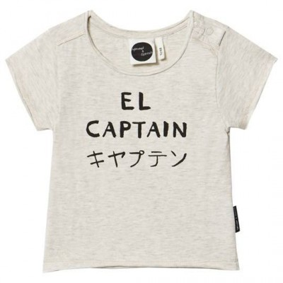 Sproet & Sprout Cream Marl El Captain Print Tee