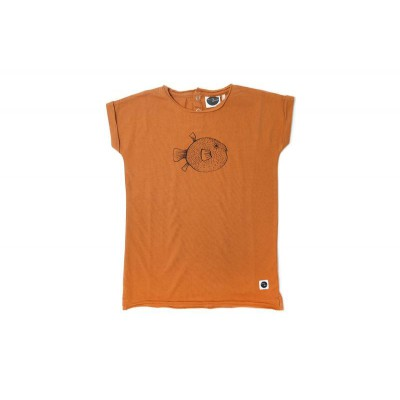 Sproet & Sprout Rust Puffer Fish Dress