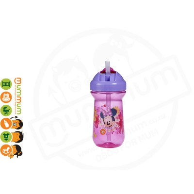 The First Years Minnie Mouse Flip Top Straw Cup 1pk