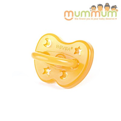 Hevea Anatomical Pacifier Star and Moon 0-3