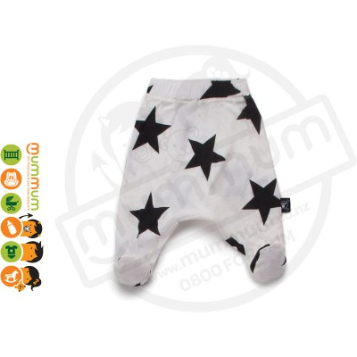 Nununu Star Baggy Footie White
