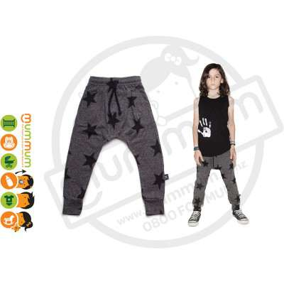 Nununu Star Baggy Pants Charcol