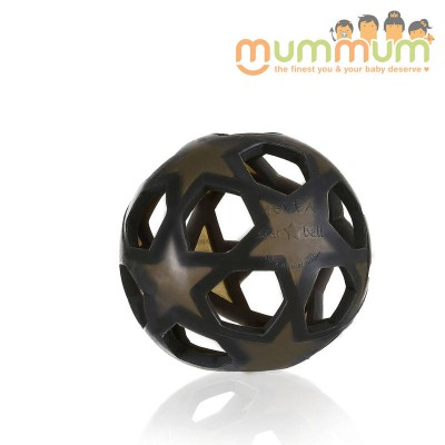 Hevea Star Ball Charcoal Black teether toy
