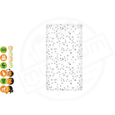 Burrow And Be Cotton Cot Fitted Sheet -Star 128x63x30