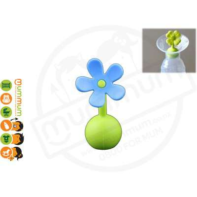 Silicone Breast Pump Flower Stopper Blue Designed for Haakaa Breat Pump