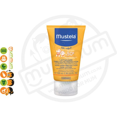 Mustela Water Resistant Very High Protection Sun Screen / Lotion - SPF 50