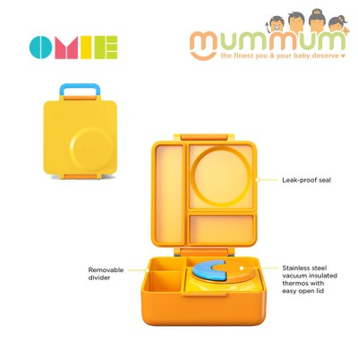 OmieLife Yellow Sunshine OmieBox Lunchbox With Thermal Food Jar
