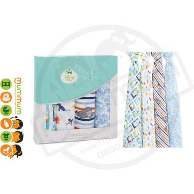 Aden and Anais Disney Baby Classic Swaddles, Jungle Book 4pack