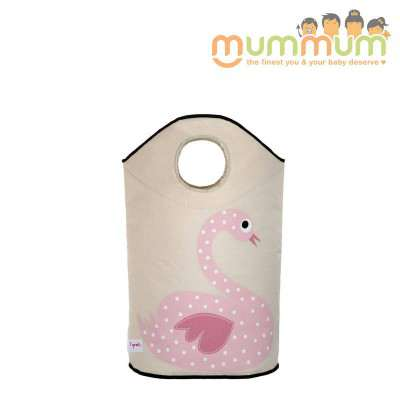 3 Sprouts Laundry Hamper Swan