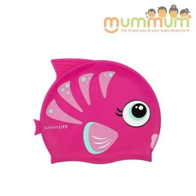 Sunnylife swimming cap fishy pink 3-9yrs