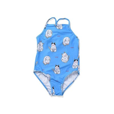 Minti I Heart Cats Swimsuit Bright Blue
