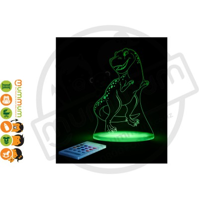 Aloka Night Light T Rex Dinosaur Multi Colour With Remote Control