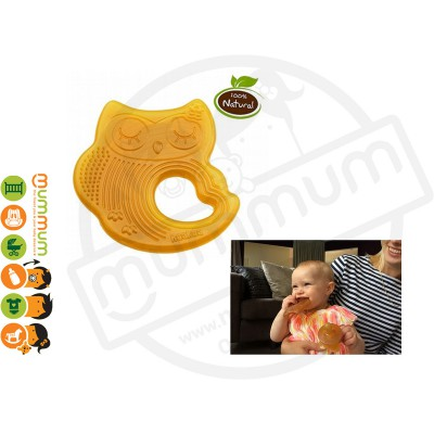 Haakaa Rubber Owl Teether Sweet Dream Natural Rubber Teething Ring