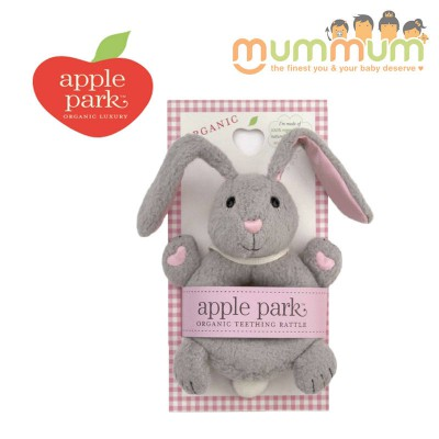 Apple Park Soft Teething Ring Rattle - Bunny