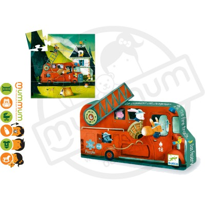 Djeco Puzzle The Fire Truck 16pcs 3Y+