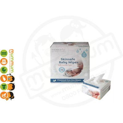 Thinkwise Skin Baby Dry Wipes 50 Large pieces