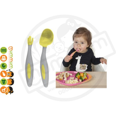 Bbox Toddler Cutlery Lemon Sherbet Spoon Fork With Case