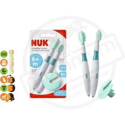 Nuk Toothbrush Training Set 6-15m Massage n Clean