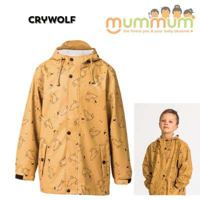 crywolf play jacket wolf print 2-14Y