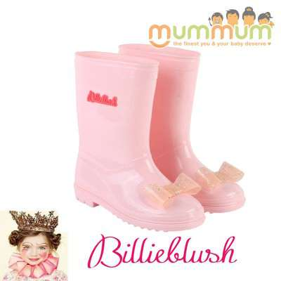 Billieblush Wellies Pink with Bow
