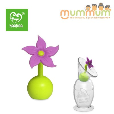 Silicone Breast Pump Flower Stopper Purple Designed for Haakaa Breat Pump