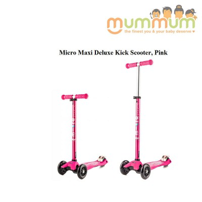 Micro Scooter Maxi Deluxe Pink  For 5-12ys Adjustable Handlebar Height