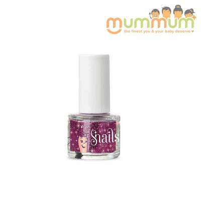 Snails Nail Polish Kids Safe Washable Purple Red Glitter