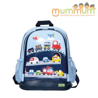 Bobble Art Medium Size School Backpack - Traffic / Cars