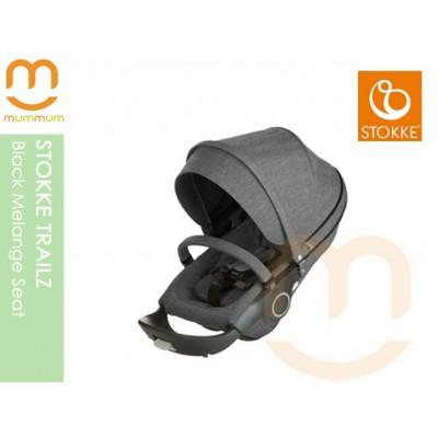 Stokke Trailz Black Melange Seat Sep Delivery and Nov Delivery