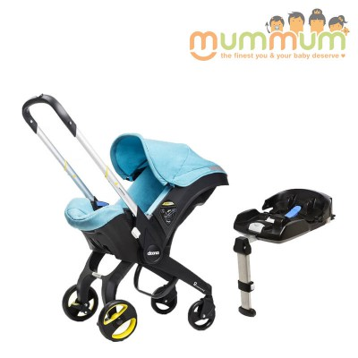 Doona Infant Car Seat/Stroller All In One with Base -Turqouise