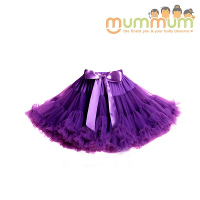 Evie & Sash Tutu Skirt Grape Purple 3m-8ys