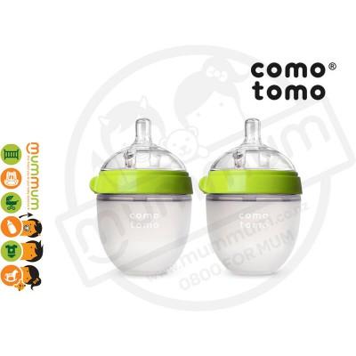 Comotomo Baby Bottle Twin Pack 150ml/5oz Green