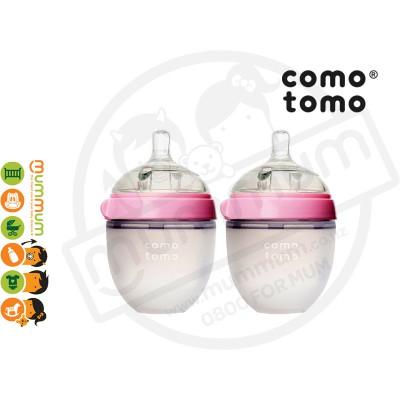 Comotomo Baby Bottle Twin Pack 150ml/5oz Pink