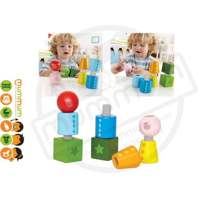 Hape Twist And Turnables 8pcs 24m+