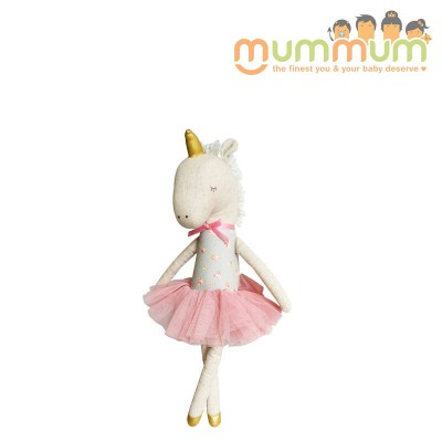 Alimrose Yvette Unicorn Doll 43cm Blush & Gold