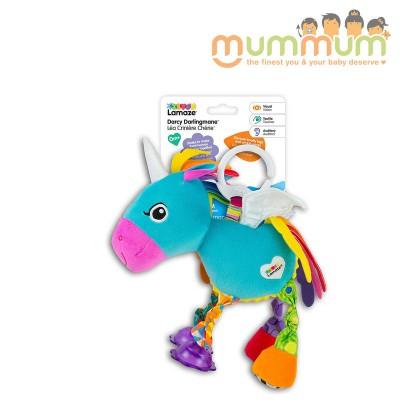 Lamaze clip & go unicorn blue