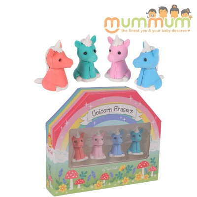 Tiger Tribe 4pack Unicorn Erasers