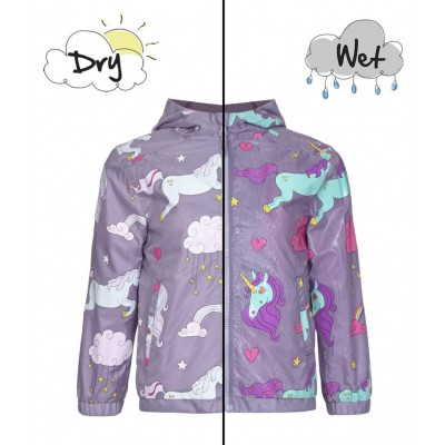 Holly and beau Raincoat Unicorn Color Changing 2-8Y