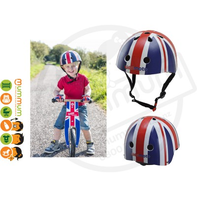 Kiddimoto Adjustable Union Jack Helmet