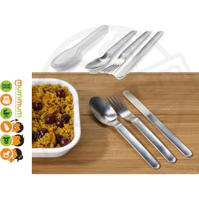 Black + Blum Box Appetit Cutlery With Case Perfect Gift fo Dad Office Camper