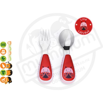 Skip Hop  Zootensils Little Kid Fork &Spoon - Ladybug