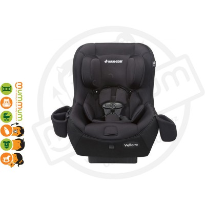 Maxi Cosi Vello 70 Carseat Black Up to 70lbs Convertible Seat