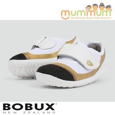 Bobux IW Lo Dimension Shoe White+Gold